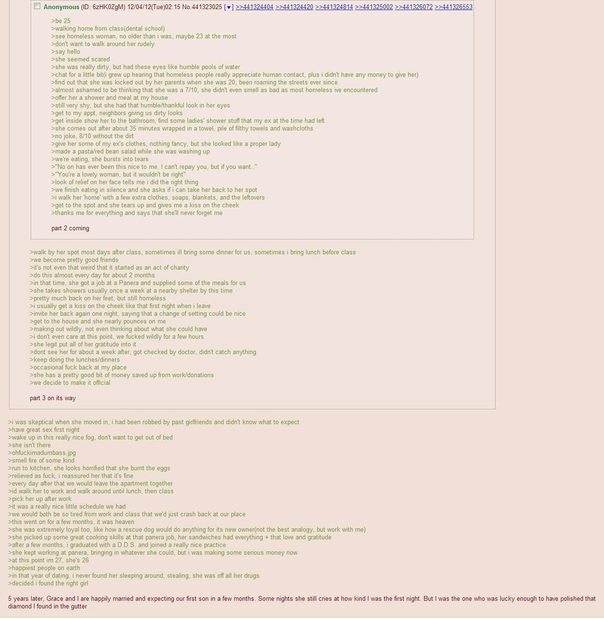 The best greentext story. I know this mad old but it's worth the read. join list: GrislyDischarge (228 subs)Mention Clicks: 12036Msgs Sent: 109948Mention Histor