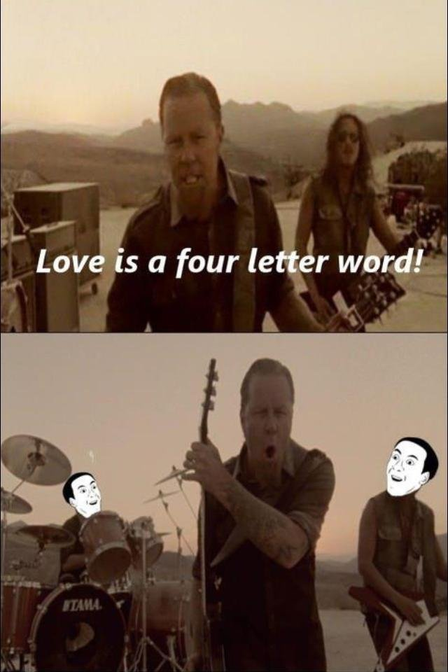 The big 4 letters. (:solo). 1 Love ts a four weird) illa. `Four letter word` is a common phrase that means 'curse word', not a reference to how many letters the word contains.