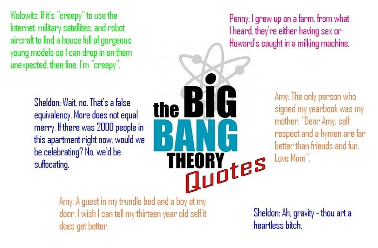 """The big bang theory quotes. . I.""""' : If its """"creepi, i"""" tn use the Penny: I Tew up Inn a firm fime what Internet. military satellites, and rebut I heard they' r"""