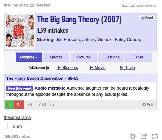 The Big Bang Theory. .. Wow. An actual fact on something BIg Bang related!