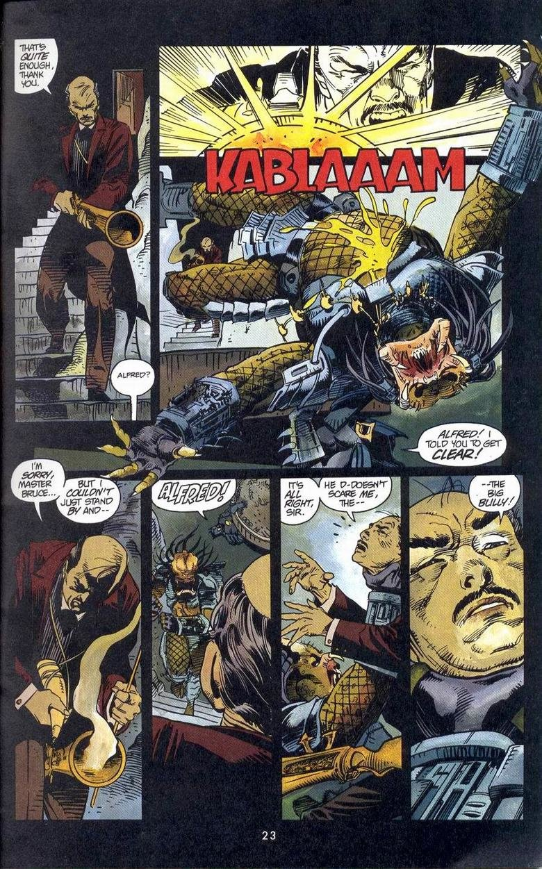 The big bully!. Batman versus Predator #3. regl. Why did I not know of this comic's existence.