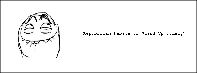 The big question of the year.. . Republican Debate er comedy?