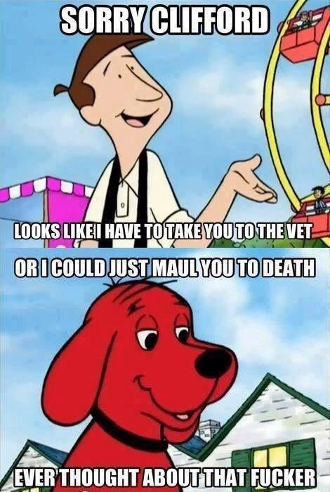 The Big Red Dog. . was um um Tl) rm mu