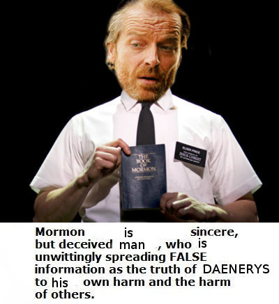 The Book of Mormont. . Marylan is @ ral but deceived man , who Is FALSE 1' ' as the truth at EIGEN ERYN to his -:n. -in harm and the harm. You've never read the book of Mormon...