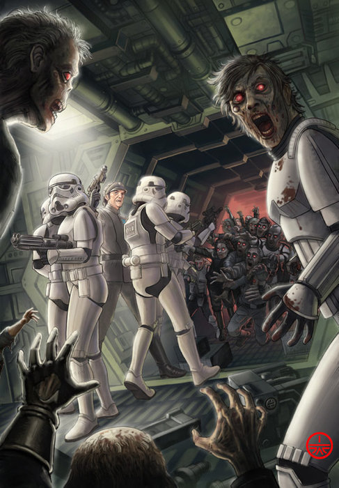 """The book's title is """"Death Troopers"""". .. set ship on route to nearest star or deep space and leave in escape pods problem solved. Or alternatively leave in escape pods order strike on the ship, or mow"""