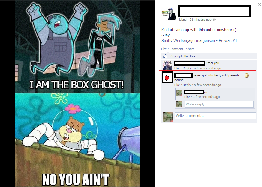 the box ghost. distraction in the tags.
