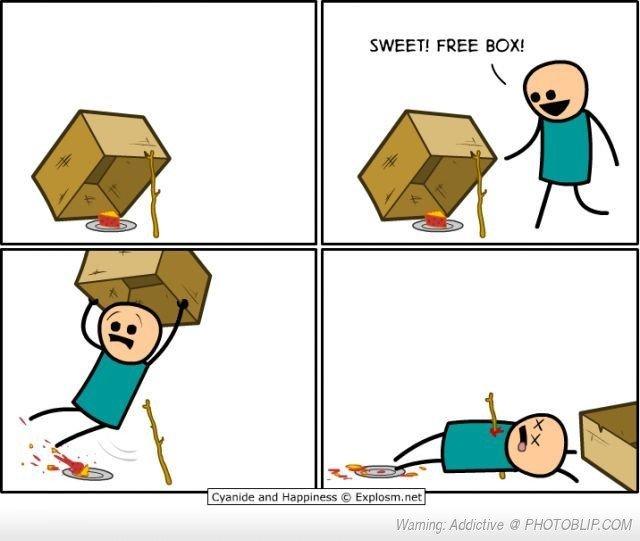 The Box is a Lie. . SWEET! FREE EDI!