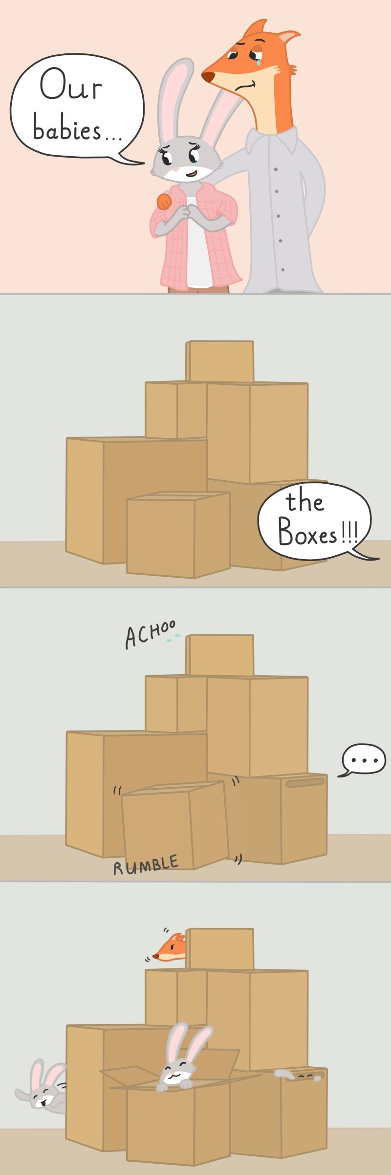 The boxes!!!. Bad jokes run in the family, it seems!.