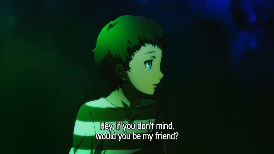 The boy in the striped pyjamas. Persona 3.. Comparing 4 to 3, I'd take full moon fairy boy over old lady any day