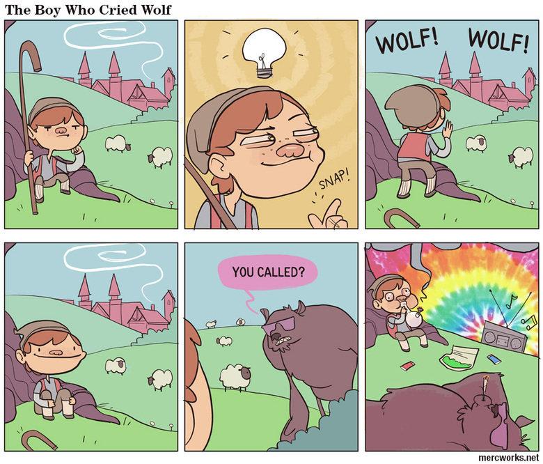 The boy who cried wolf. . The Boy Who Cried Wolf