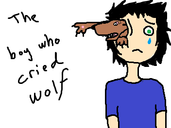 The Boy Who Cried Wolf. OC by: Coyster.. WOLOLO