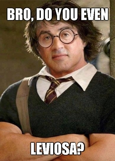 The boy who lifts. .. Albus Dumbbelldore