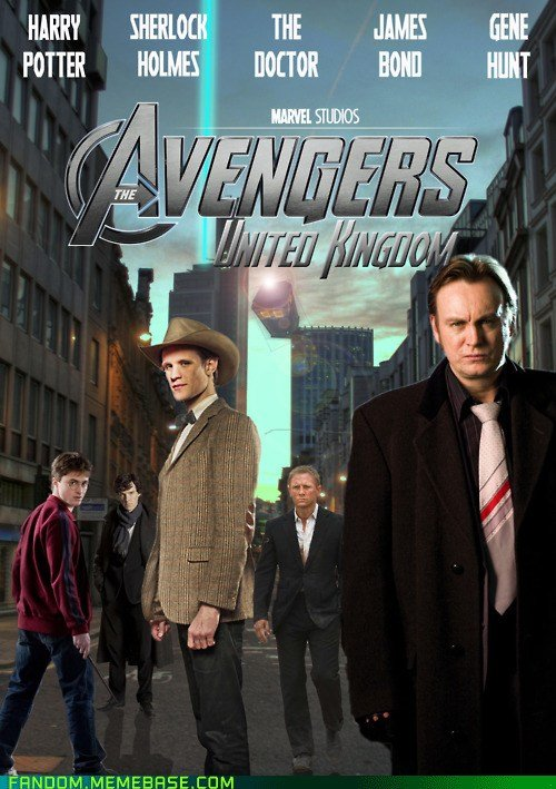 The british version of The Avengers.. . 1' infii' i' Kitti A I I I com. This isn't even our final form
