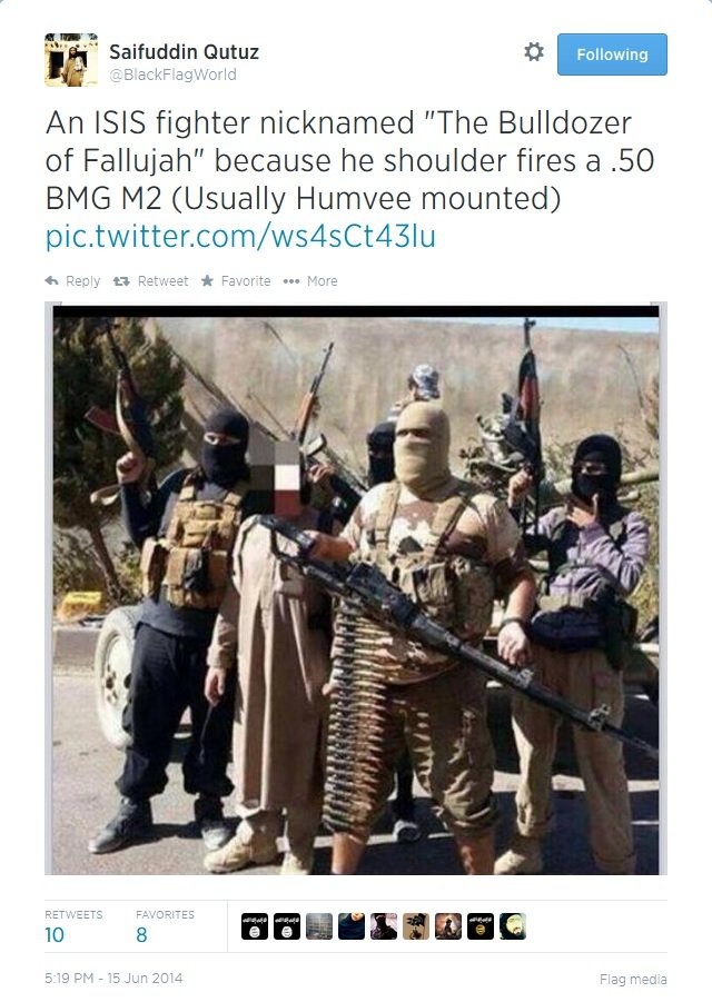 """The Bulldozer. from the recent news posting, a soldier has appeared with a shoulder mounted 50. cal known as """"the Bulldozer of Fallujah"""".. Shipudden H"""