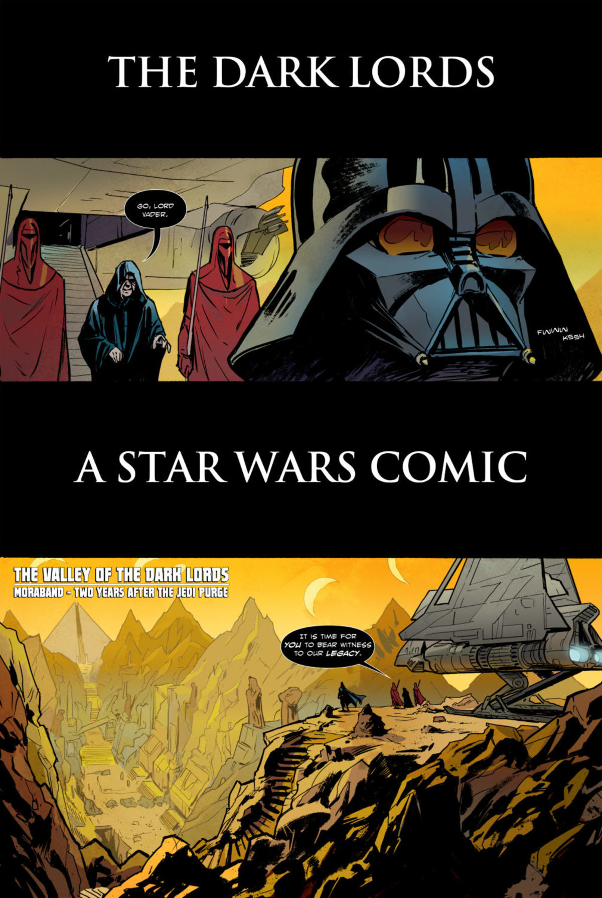 The Dark Lords. .. did vader just kill a of sith just because they disagreed with him?
