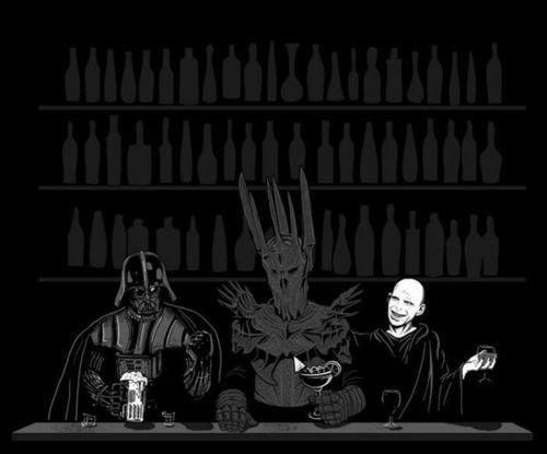 The dark side of the bar. Like alternate art? Well then get the hell over here! --> .. Room for one more guys?