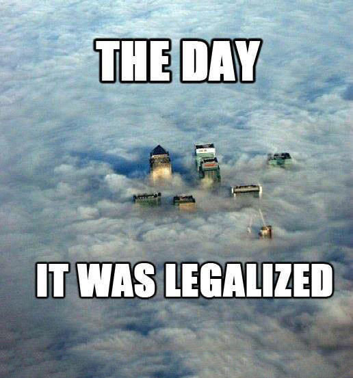The day it was legalized. .. Why would legalizing gay marriage cause that much cloud cover?
