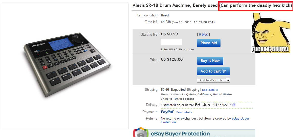 The Deadly Hexikick. . Alesis Drum Machine, Barely used Can perform the deadly ) Item condition: Used Starting bid: us . 99  Place bid Enter US 'ode' or