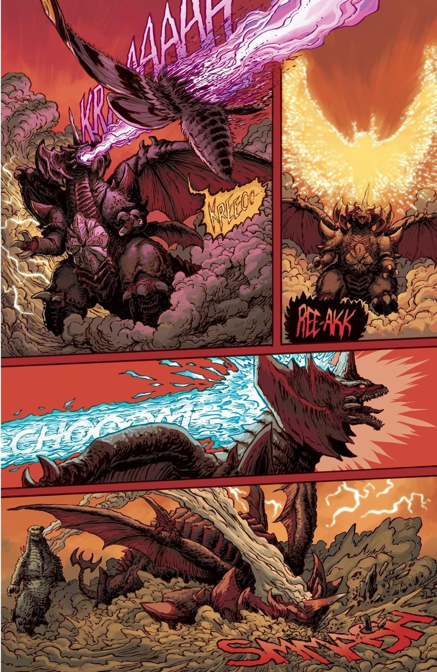 The devil is gone. .. Godzilla in Hell?