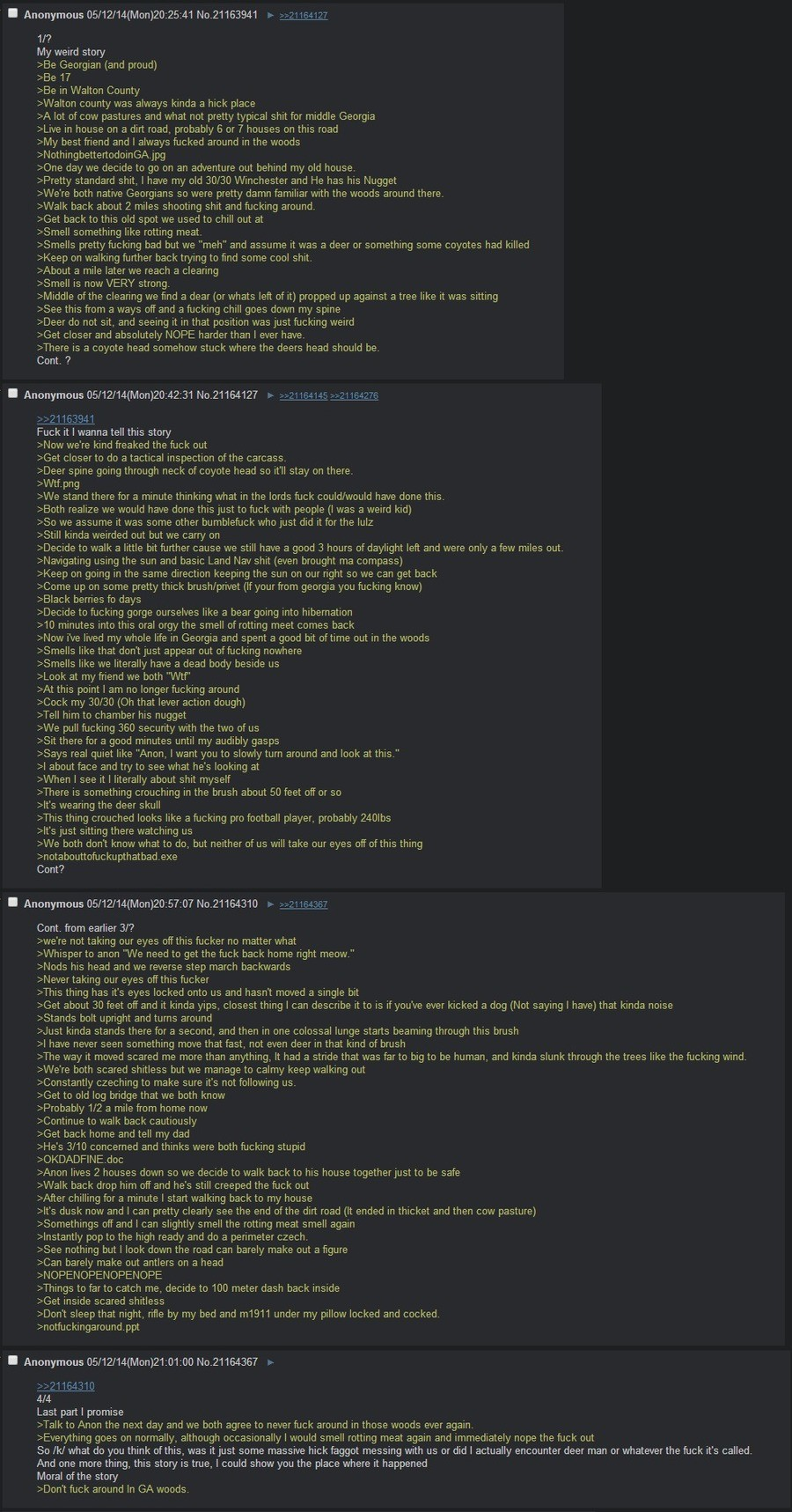 The Devil Went Down to Georgia. join list: Skinwalkers (232 subs)Mention History.. oh boy nothing like innawoods greentexts in october.