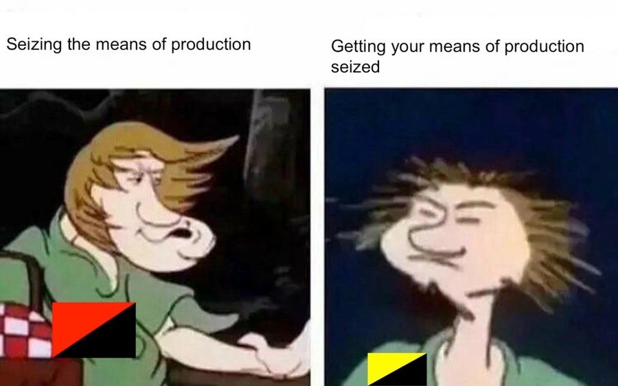 The difference between capitalists and commies. ANPRIMS FTW. Swing the means Of !! Getting your means of production seized. >3708 >Not being an antranshuman