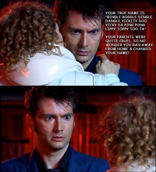 "The Doctor's Name. . TRUE NAME TS BINGLE BOGGLE DILHOLE YUCKY DA PING PONA Doppy TOG TA"" tii' i' I mun PARENTS wane QUITE CRUEL. SO NO WONDER you RAN AWAY FROM"