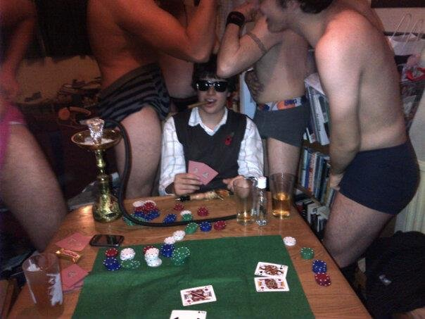 The Don of Strip Poker. Say hello to the GOD OF STRIP POKER!.. Meanwhile, at OP's house...