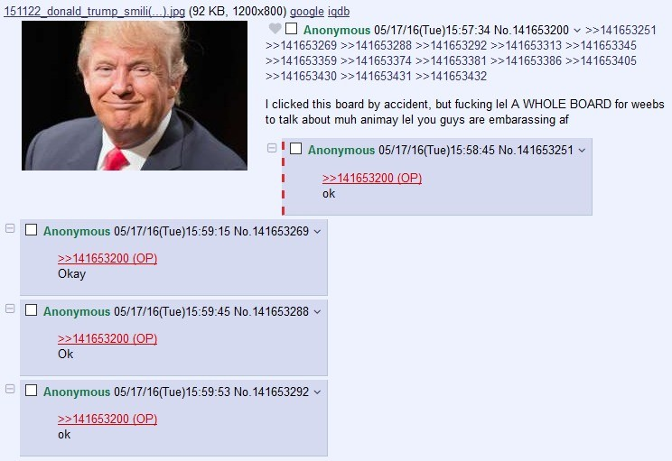 The Donald visits /a/. .