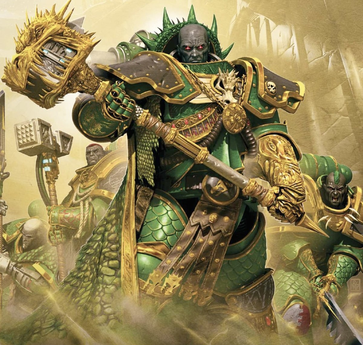 The Eighteenth Primarch. Vulkan. The Firedrake. Primarch of the Salamanders. Ridiculously strong, ridiculously big, and probably the nicest guy you'd ever meet.