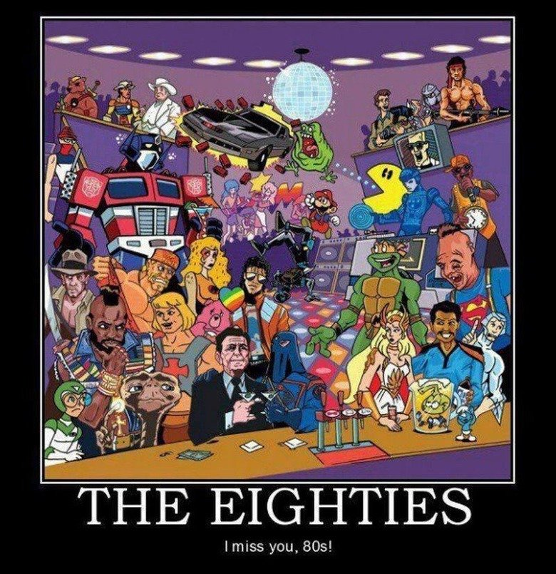 The Eighties. n ot mien. amiss you, !. Don't forget about me!