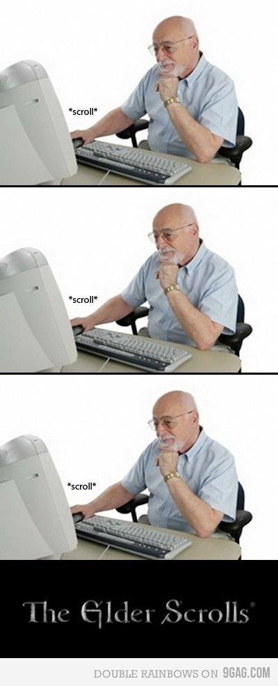 The elder scrolls. .. Your content is an Elder Joke dude..