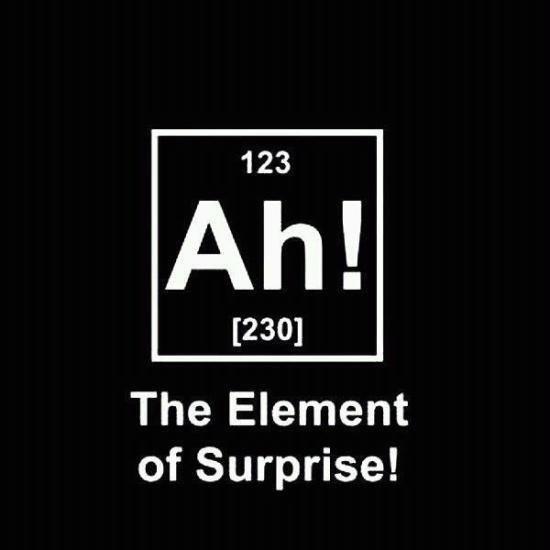 The Element of Surprise. . 123 230] The Element of Surprise!