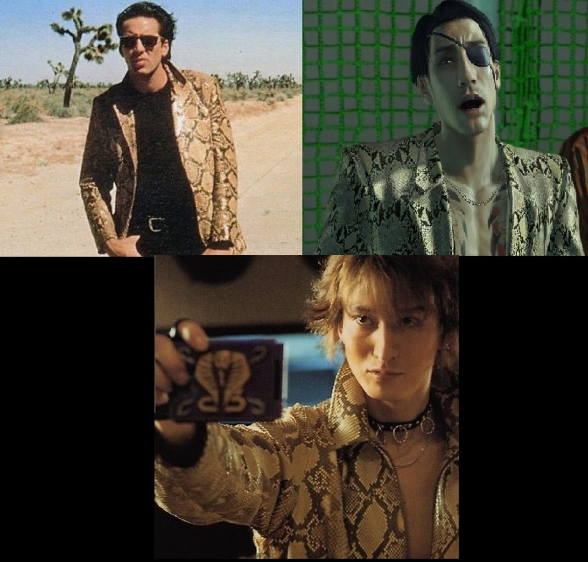 The Father, The Son, and the Holy Spirit. .. You will never be cool enough to wear a python jacket