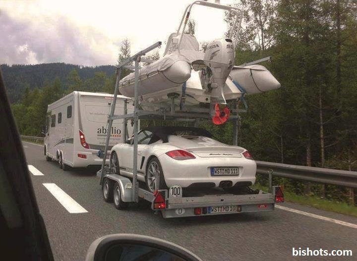 The Germans know how to camp in style. . arrt. rich germans