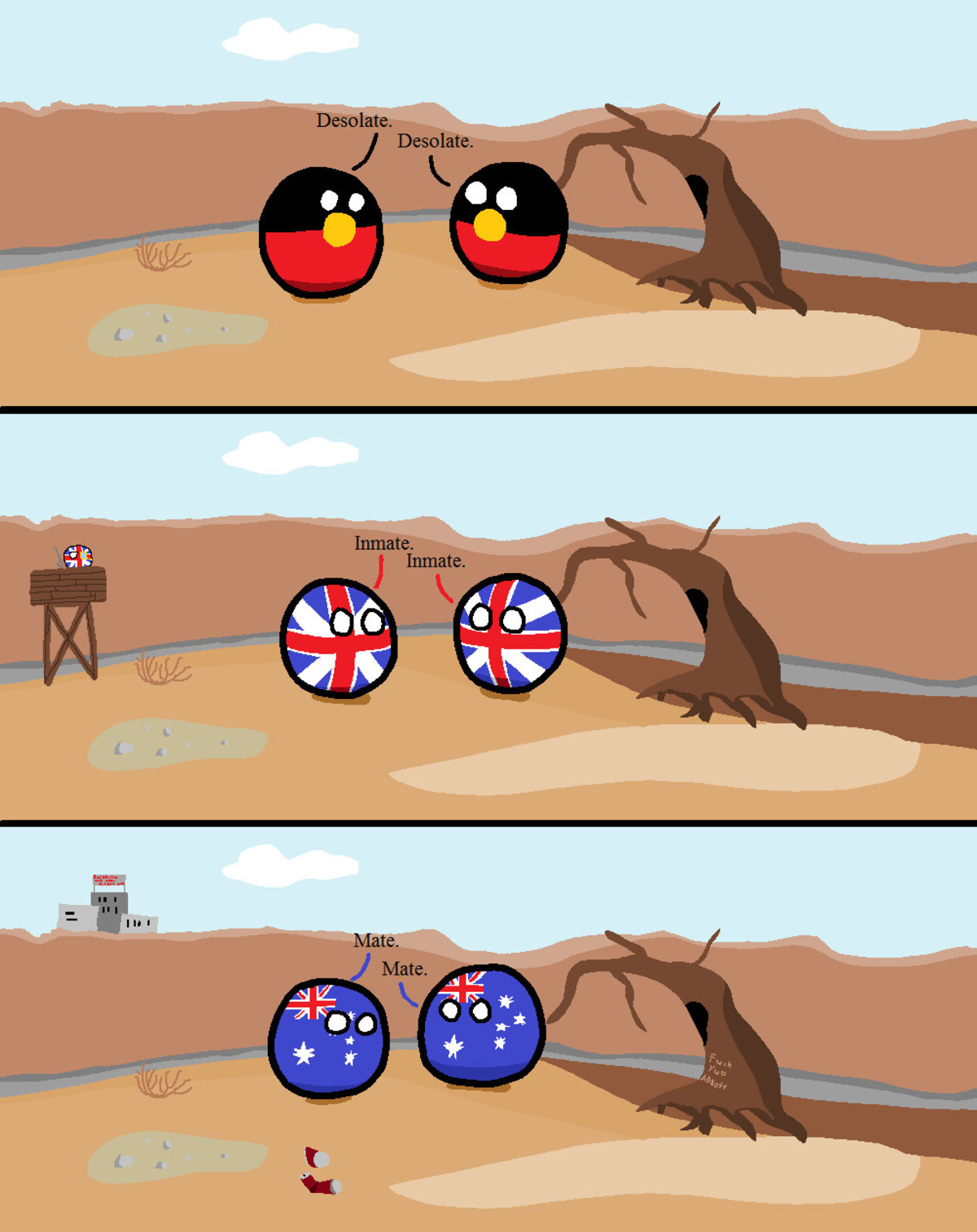 """THE HISTORY OF AUSTRALIA. .. It would be hilarious if the Aussie """"mate"""" actually was originally a colloquial shortening of """"inmate"""""""