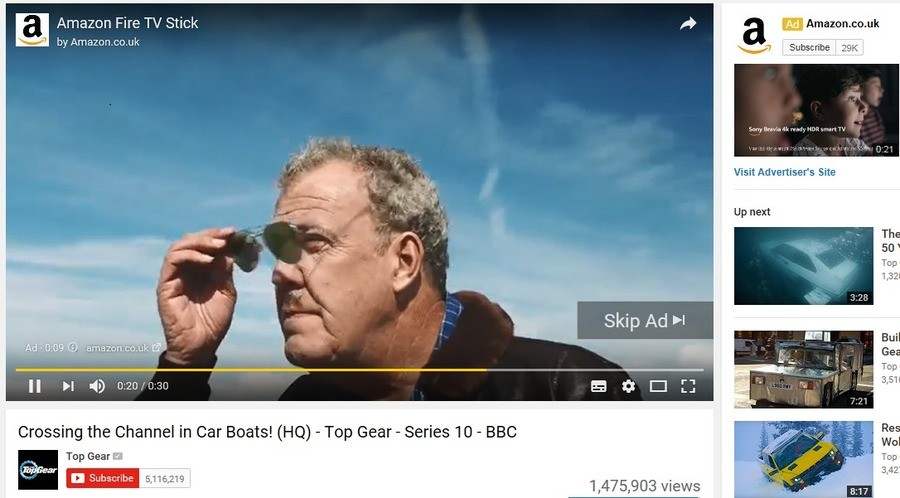 The irony is real. I hope the true Top Gear lovers out there appreciate the irony. Amazon Fire TV Stick a He' by Am Visit Advertiser' s we up next Crossing the