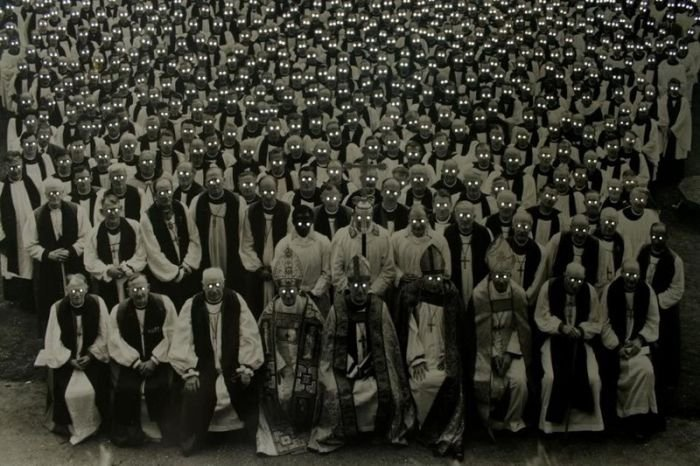 The irony. Religious figures looking like a demon horde... What I saw