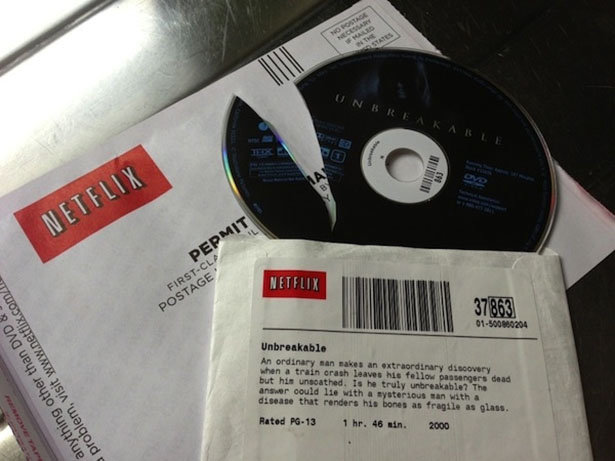 The irony. The tags have a crack in it, and are empty.. Why did netflix send a dvd? Is that just an amercian thing.. cause i'm canadian & i didnt know they did that..