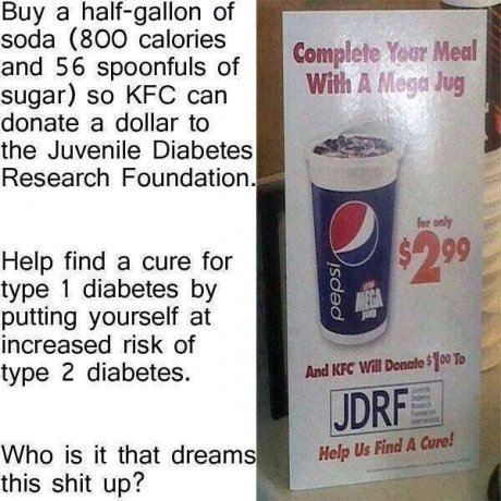 The irony!. . Buy a sf sends (800 ' and 56 spoonfuls at sugar) as KHZ can innate a miller he the Juvenile Diabetes Research '' Help find a cure far type i diabe