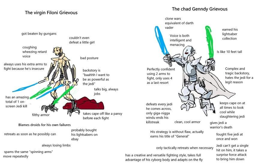the irrefutable truth. .. Genndy Grievous was a murdergod.