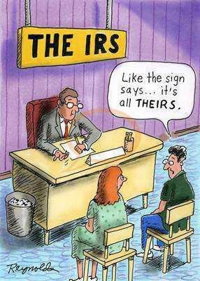 The IRS. .. Sounds like this kid I had to babysit. It's not my fault the little bastard wouldn't share his mom's breastmilk.