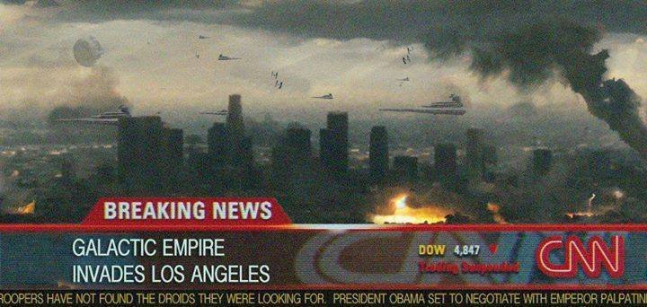 The IS has a new ally. . BREAKING News INVADES we ANGELES. But the Empire blasts the sand people...