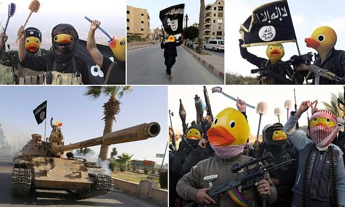 The ISIS ducks. .. So... What do we do if some ISIS members actually try doing this?