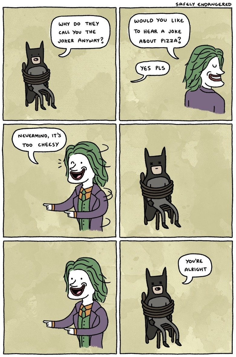 The Joker.. . muir no THE? ts, y kt cute. You Ttle Ta HERE. A nice