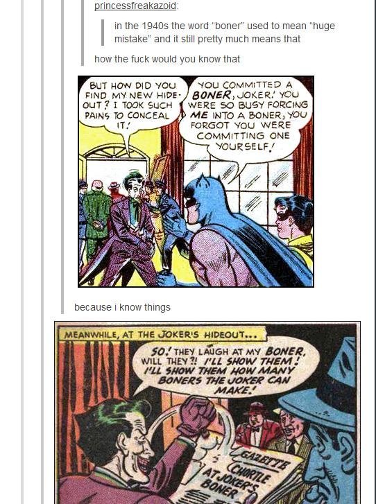 """The jokers boner. . princesst-% aboiut in the the were """"turner"""" used to mean """"huge mistake"""" and it still pretty much means that how the fuck Wollte you Knew tha"""