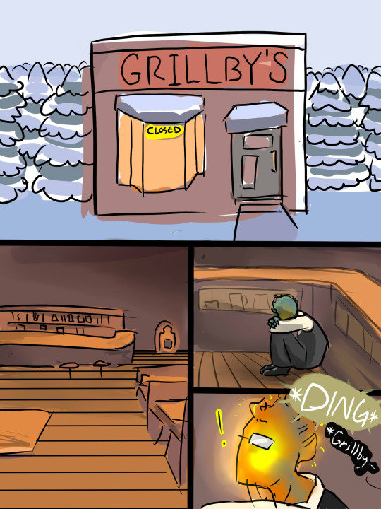 The jokes never stop. Source: Theomniousowl/Tumblr.. Man the Grillby boss battle is even harder then Sans...