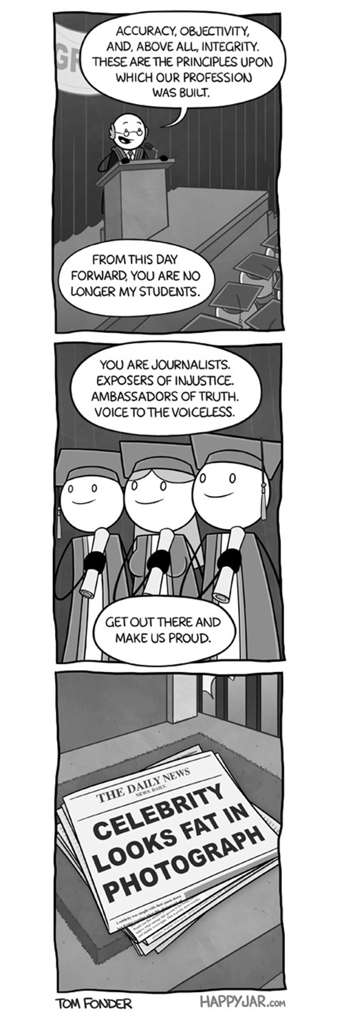 The Journalism Graduates. Journalism is a method of inquiry and literary style that aims to provide a service to the public by the dissemination and analysis of