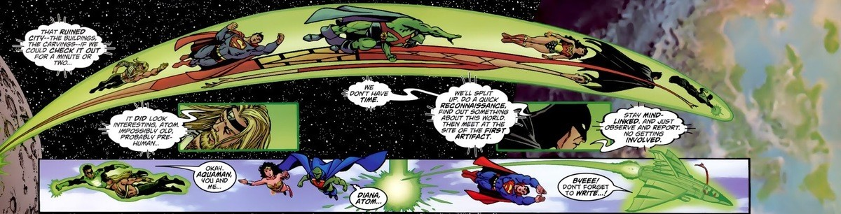 The Justice League explore the Marvel Universe. JLA/Avengers Issue #1 JLA/Avengers Issue #1 .. I'm one of those Doom fanboys who likes it when the Latverians genuinely do love Doom as their leader.