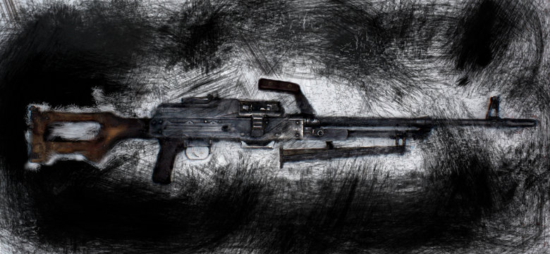 The Kalashnikov's Big Brother (Edit). I used psykopaint to make it a bit more lush and give it some contrast. If you end up using this as your wallpaper, be sur