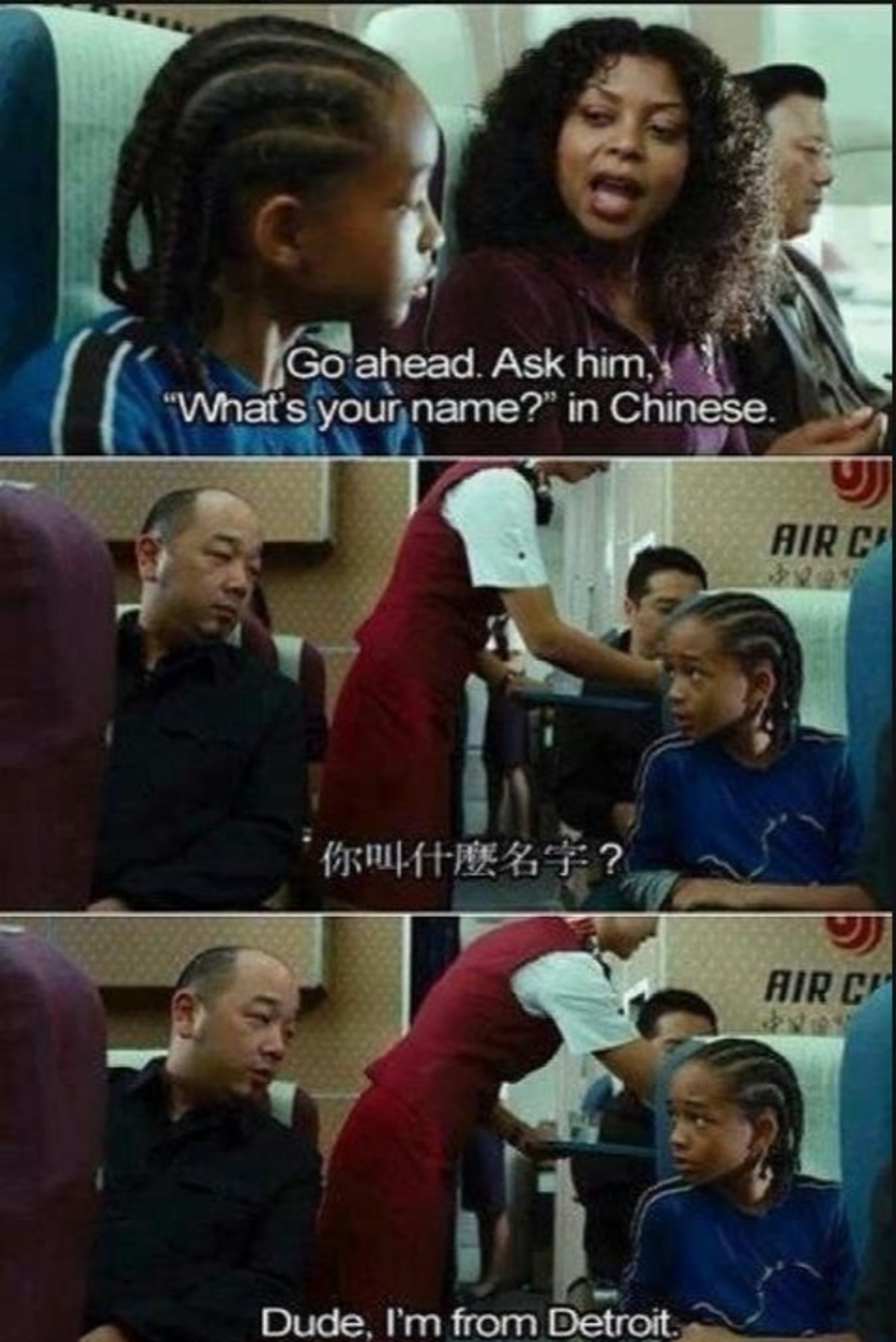 """The Karate Kid. .. """"I used to speak Chinese....can't have in Detroit"""""""